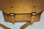 Портфель кожаный VS114 yellow beige 38х35х10 см, фото 2