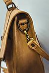 Портфель кожаный VS114 yellow beige 38х35х10 см, фото 3
