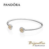 Pandora браслет #596274CZ серебро золото Пандора оригинал