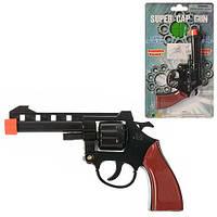 Пистолет 2072BP (96шт) 17см, на пистонах, на листе, 15-26-3см