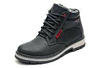 Зимние ботинки мужские Wrangler, черные, натуральная кожа, р. 40 41 43 45