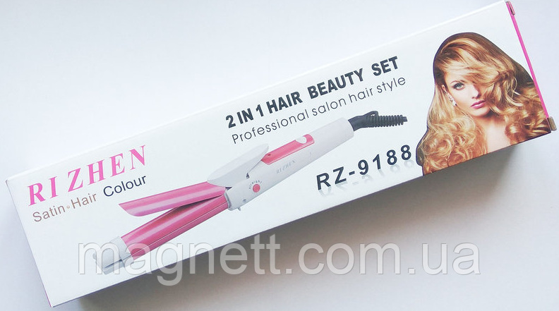Плойка-утюжок для волос RIZHEN RZ-9188 - 2в1