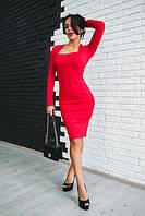 """Платье женское стильное миди с красивым декольте """"Ирина"""" трикотаж джерси разные цвета SMdi1821"""