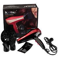 Фен для волос с диффузором и насадками Kemei 1800W (KM-899)