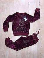 Велюровый костюм для девочек Balmain бренд Турция. Cпортивные костюмы турция