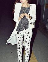 Штаны женские белые со звездами