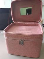 Розовый Кейс для хранения косметики