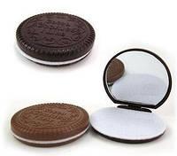 Карманное зеркальце шоколадное печенье с маленькой расческой внутри