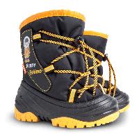 Сапоги зимние детские Demar HAPPY ESKIMO черно-желтые (20-29 р)