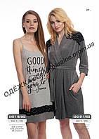 Домашнее платье, сорочка женская LND 118/002 (ELLEN)