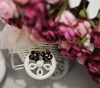Серьги пусеты в виде цветочков
