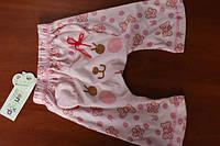 Пижамные штанишки Детские штаны пижама розовые котик бантик хлопок для девочки