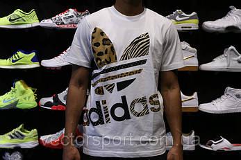 Футболка Adidas Off-Position Leopard men's T-Shirt White, фото 2