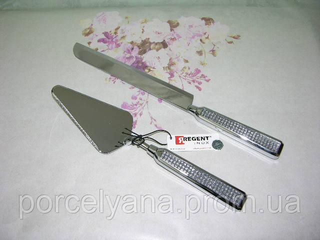 Набор для торта лопатка и нож Regent Glitter