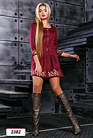 Платье 12-874 -  марсала: S М L XL, фото 1