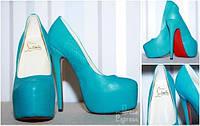 Туфли Christian Louboutin голубые