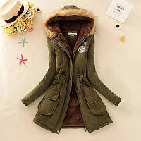 Зимняя женская куртка (парка) с капюшоном (размер xs,s), фото 1