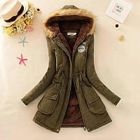 Зимняя женская куртка (парка) с капюшоном