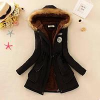 Зимняя женская куртка с капюшоном (размер xs,s)
