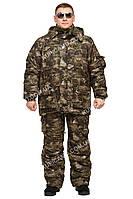 """Теплый комплект зимней одежды для рыбаков и охотников """"Клетка"""" М23"""" размер 60-62"""