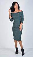 Жіноче плаття з відкидним верхом та брошкою.Р-ри 42-48