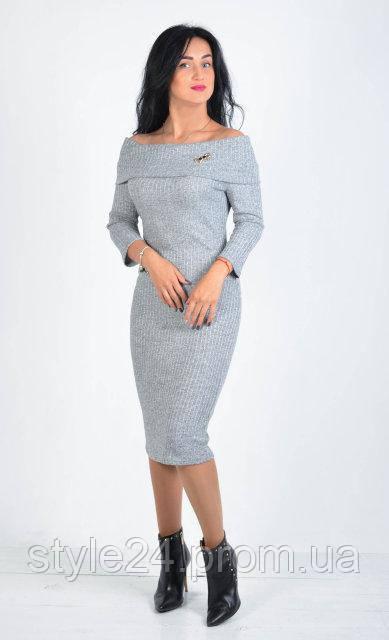 Жіноче плаття з відкидним верхом та брошкою.Р-ри 42-48 - Стильний одяг «Роксана» в Львовской области