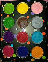 Бархат для дизайна ногтей starlet professional, 12 цветов