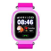 Q90 Детские GPS часы Smart baby watch Розовый