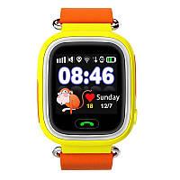 Q90 Детские GPS часы Smart baby watch Желтый