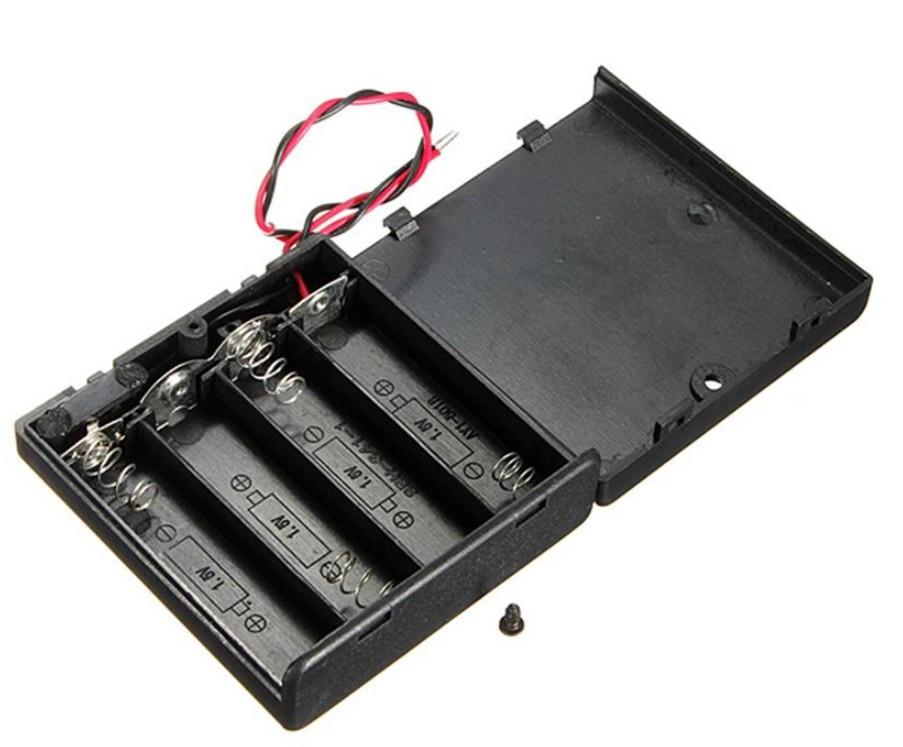 Бокс для батареек (пальчиковые 4 шт) 6 В с крышкой