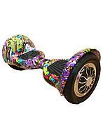 "Гироборд (гироскутер, мини сигвей) Smart Balance Wheel 10.0"" (TaoTao, Самобаланс) Граффити Фиолетовый"