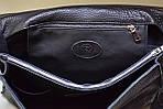 Кожаная сумка VS115 black 35х30х12 см, фото 4