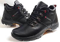 Мужские Зимние Кожаные ботинки Columbia model K-3 чёрные Польша