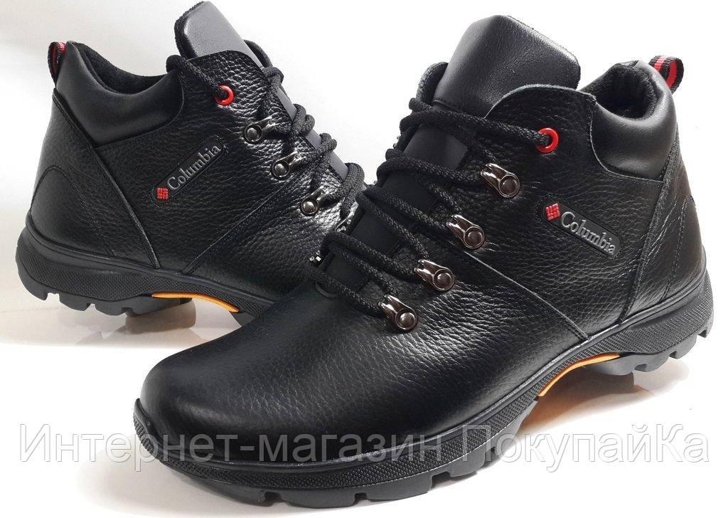 88716d8ad1d7 Мужские Зимние Кожаные ботинки Columbia model K-3 чёрные Польша -  Интернет-магазин ПокупайКа