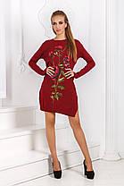 Д52 Платье вязанное роза, фото 2