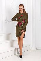 Д52 Платье вязанное роза, фото 3