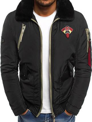 Мужская зимняя куртка черного цвета, фото 2