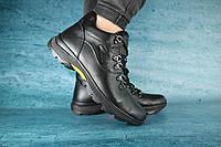 Мужские зимние ботинки с нат.кожи на меху Clarks Черные  размеры: 40 41 42 43 44 45