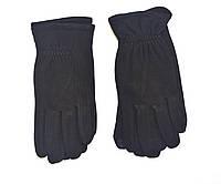 Мужские перчатки трикотажные на плюшевой подкладке с сенсорным пальцем