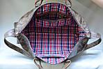 Кожаная сумка VS116 vintage brown 52х28х22 см, фото 6