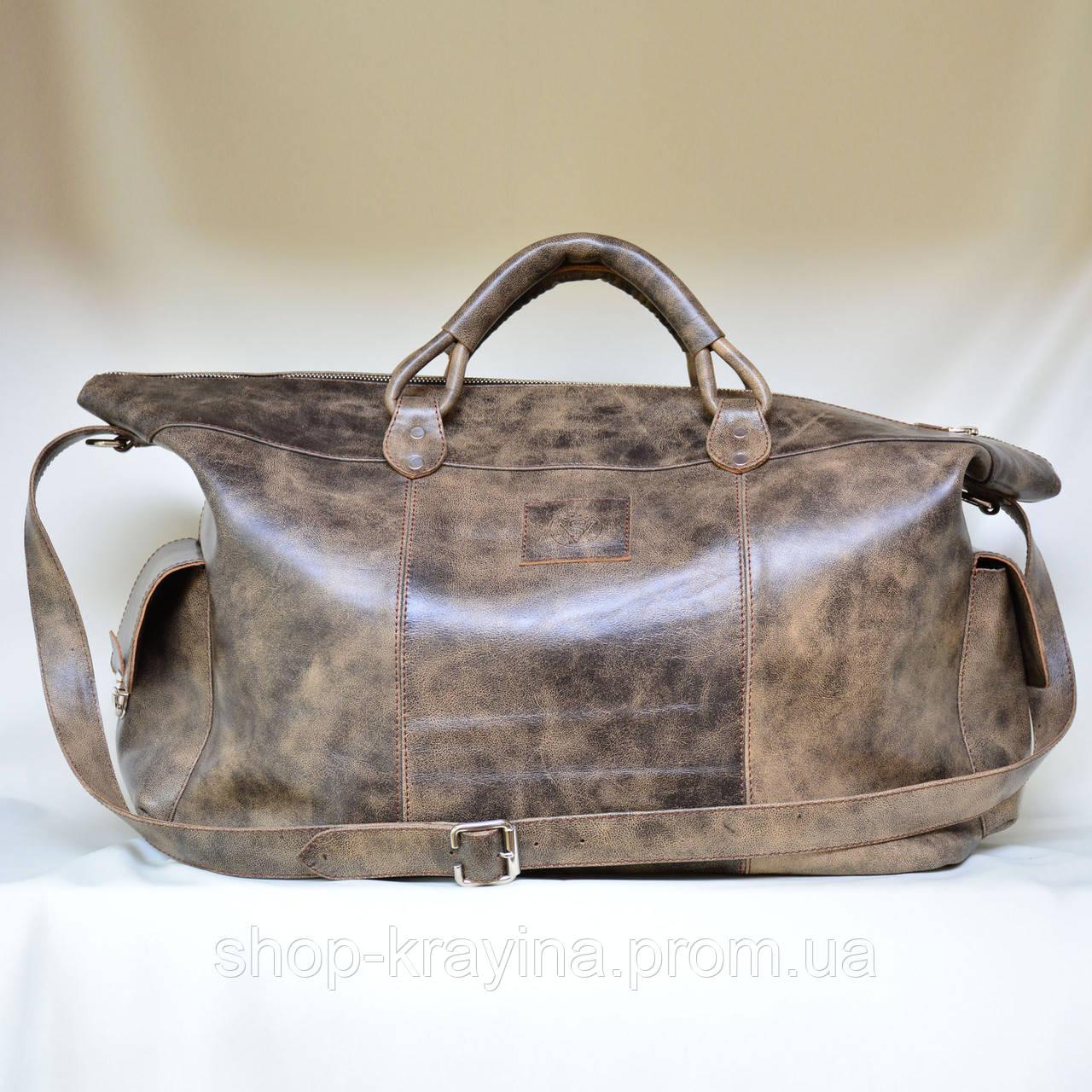 Кожаная сумка VS116 vintage brown 52х28х22 см