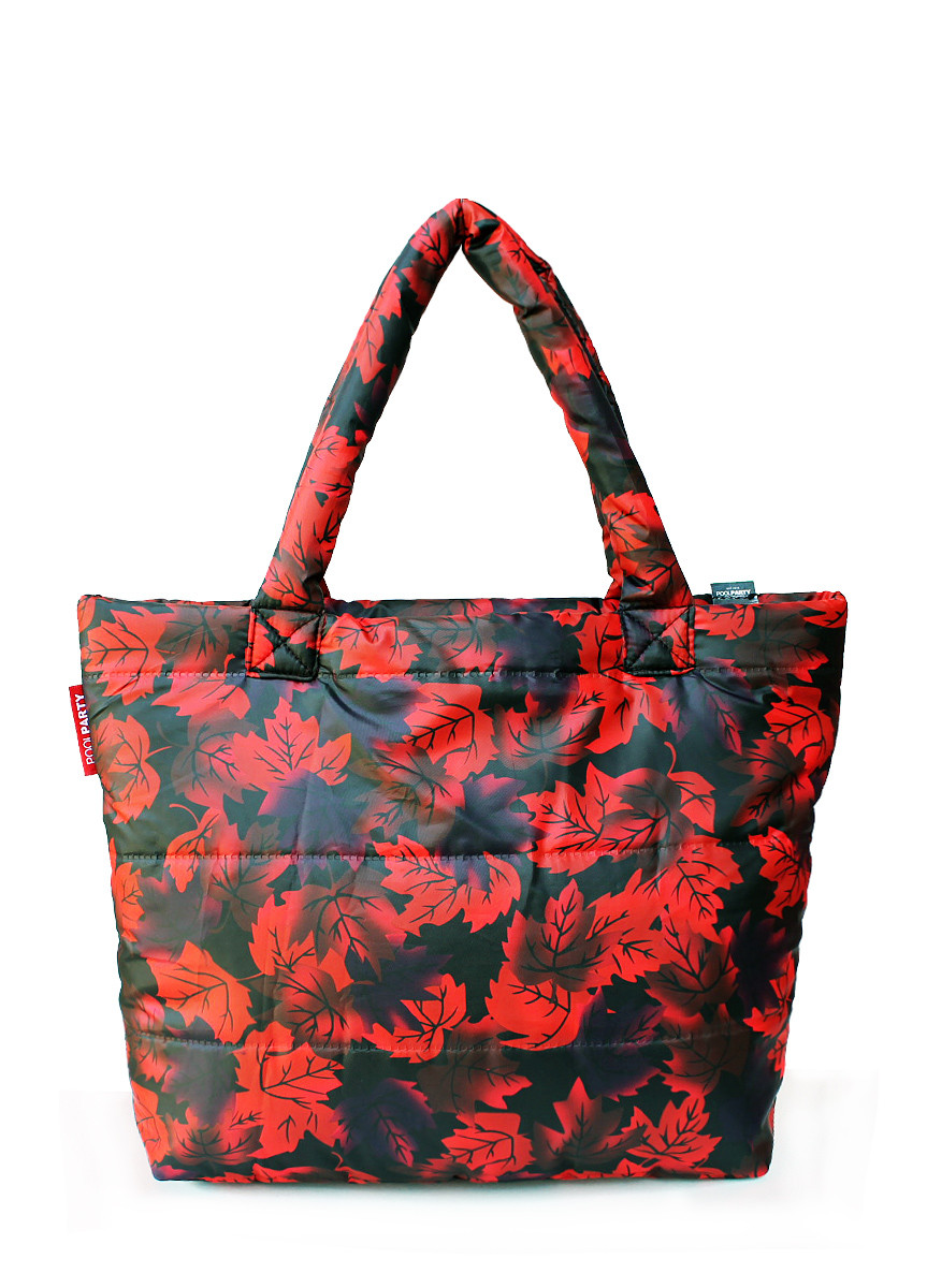 97e60e372ca5 Дутая женская сумка из ткани с принтом от интернет-магазина