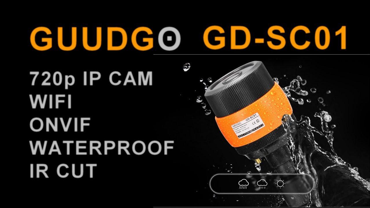Зовнішня водозахищена Wifi IP камера з режимом нічного бачення і підтримкою карт пам'яті GUUDGO GD-SC01 720P