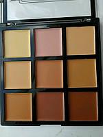 Набор консилеров/корректоров 9 цветов, Silky Touch Contour Cream 9 Colors Palette