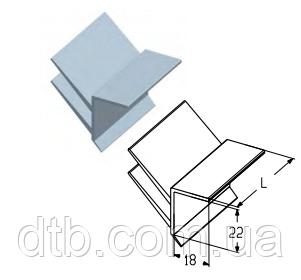 Уплотнение верхнее RST01 для промышленных секционных ворот ролет Alutech