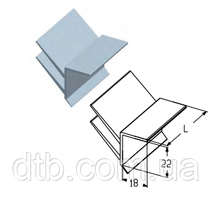 Ущільнення верхнє RST01 для промислових секційних воріт Alutech ролет