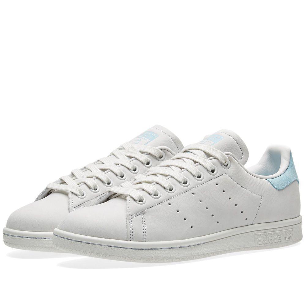 Оригинальные Кроссовки Adidas Stan Smith W Crystal White   Icey Blue ... 7a68f6288fd