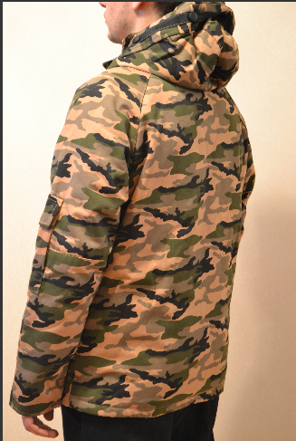 Камуфляжная демисезонная Куртка  короткая парка Vans