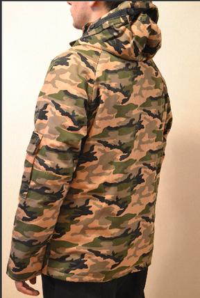 Камуфляжная демисезонная Куртка  короткая парка Vans, фото 2
