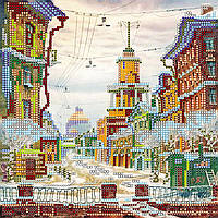 Схема для вышивки бисером  «Зачарованная улица»